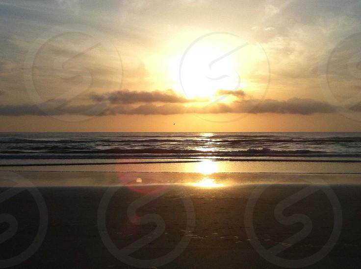 sunrise view at beach photo