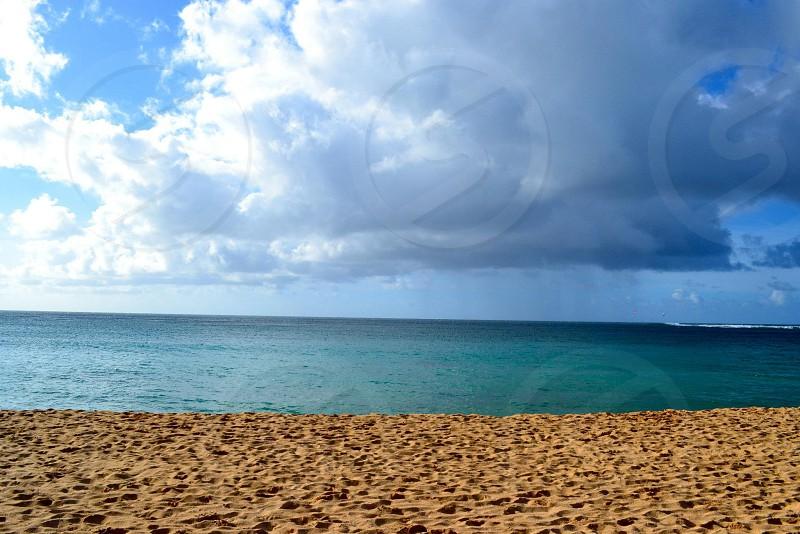 Tunnels beach in Hawaii photo