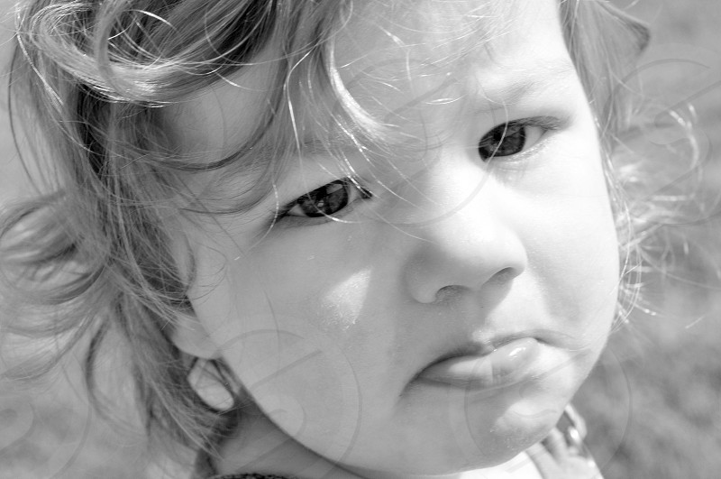 child's face photo