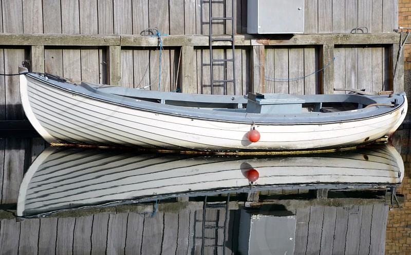 Reflections in Copenhagen Denmark. photo