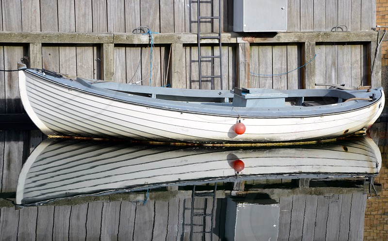 Boat Reflection photo