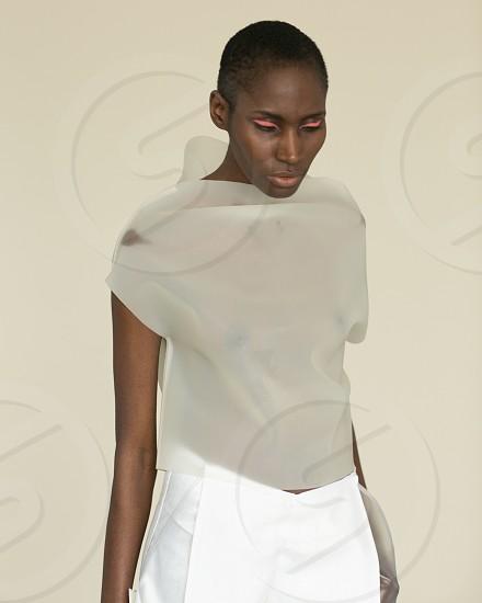 women's white shirt photo
