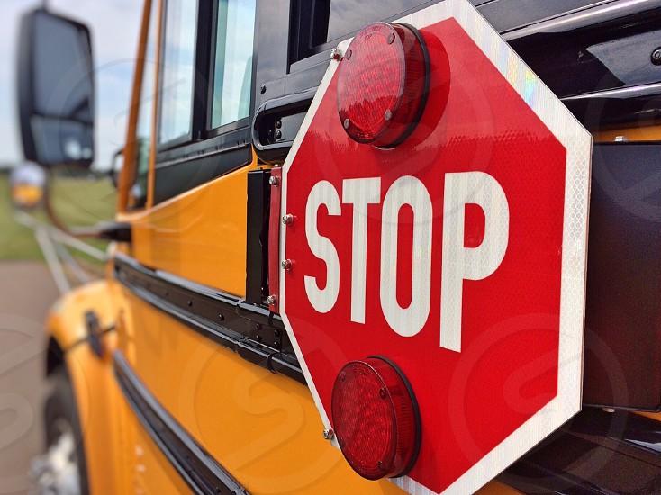 closeup photo of Stop signage photo