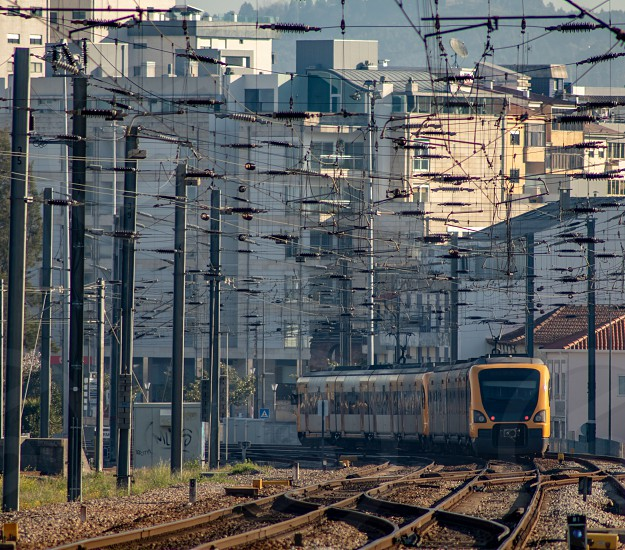 An European Train Leaving The Station photo