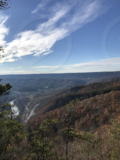 View at top of 1000 Steps Hiking Trail Pennsylvania  photo
