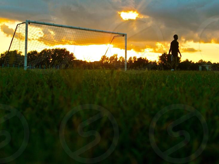 man in soccer field photo