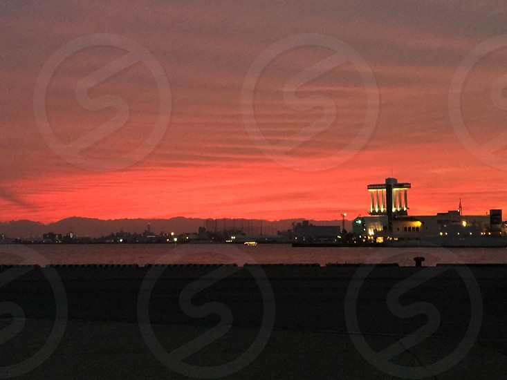 名古屋港の夕焼け photo