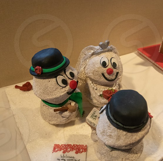 Christmas decorations and gingerbread houses photo
