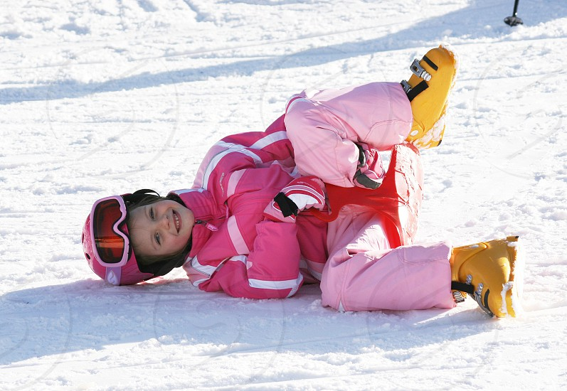 Winter sport  skiing holiday playing photo