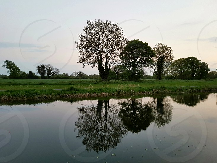 Irish midlands canal sunset photo