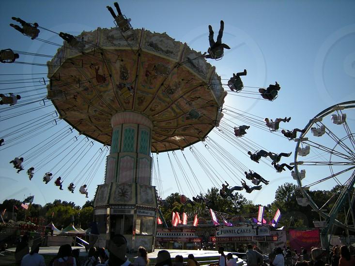 Fair or festival amusement rides photo