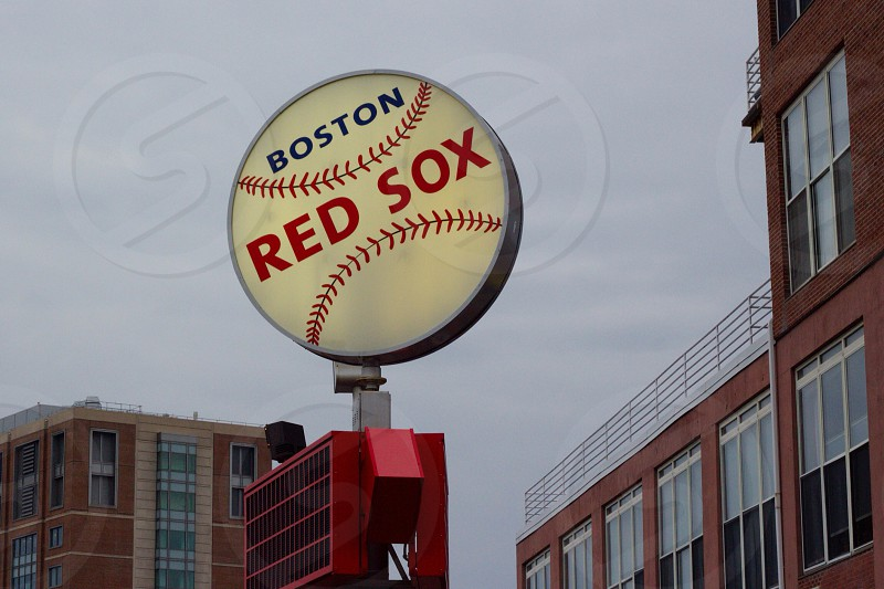boston red sox sign photo