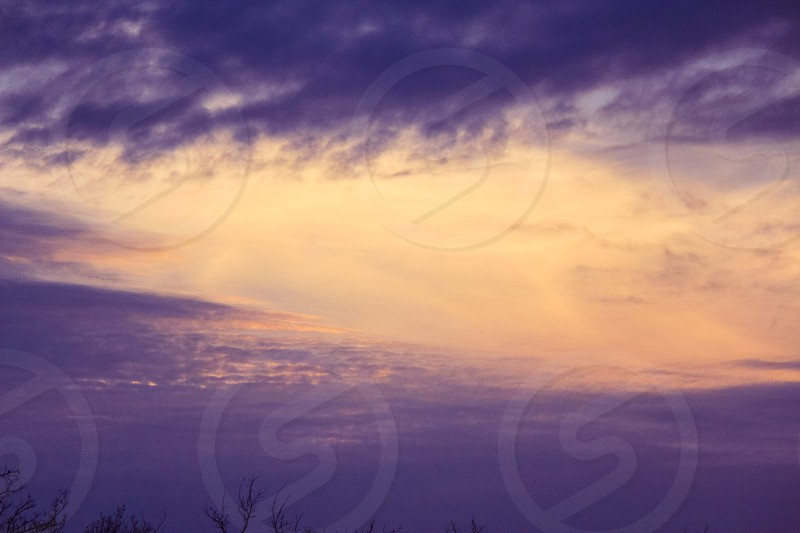 violet night sky photo