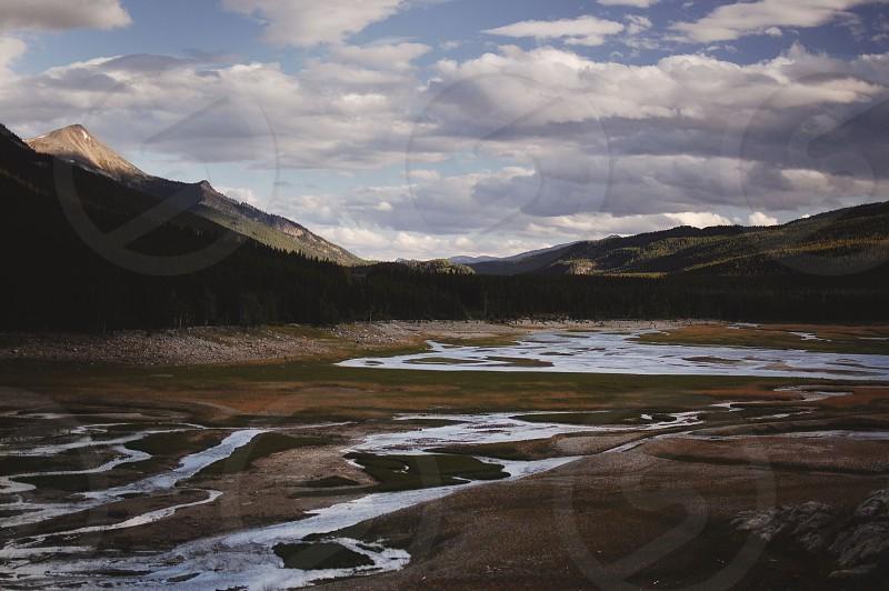Rivers in Jasper National Park Alberta Canada photo