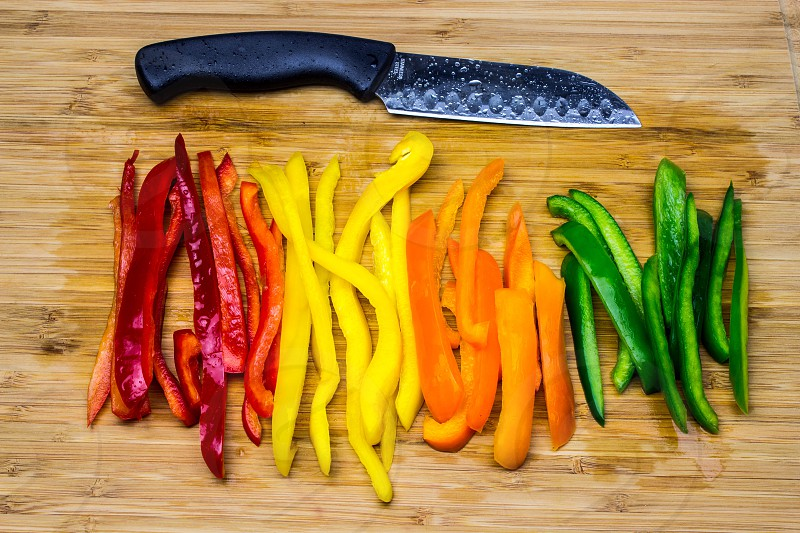 Cutting Peppers photo