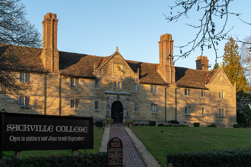 EAST GRINSTEAD WEST SUSSEX/UK - JANUARY 15  : Evening sunlight on Sackville College in East Grinstead on January 15 2019 photo