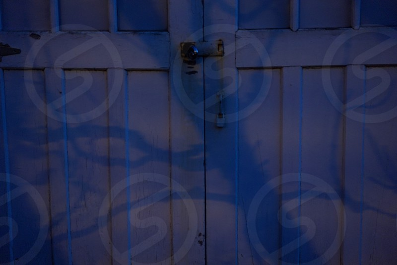 white wooden doors photo