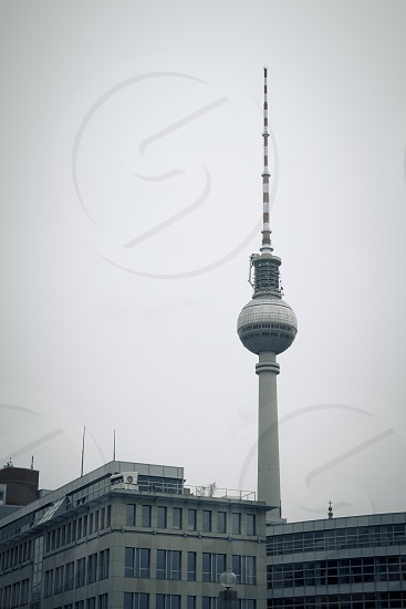 The TV Tower of Berlin that located on the Alexanderplatz photo