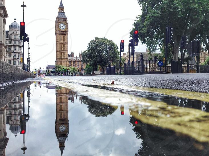 view of big ben clock tower photo