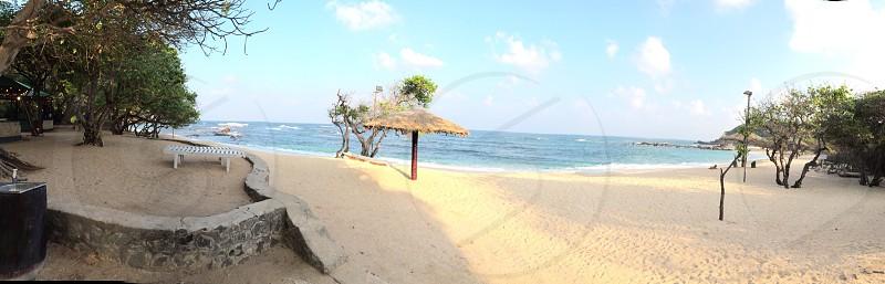 Blue waters in a magical island  Sri Lanka  photo
