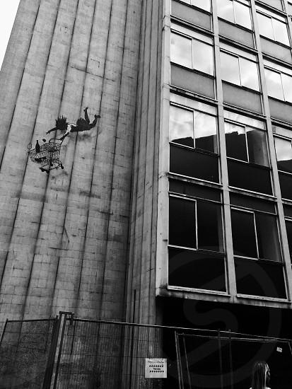 Banksy artwork located in london photo