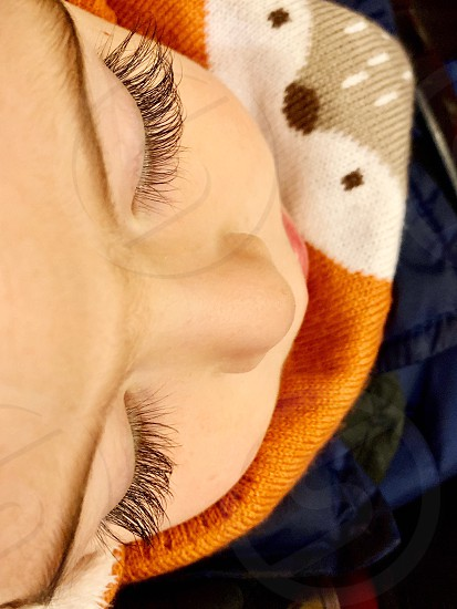 Perspective eyes eye lashes baby cute photo
