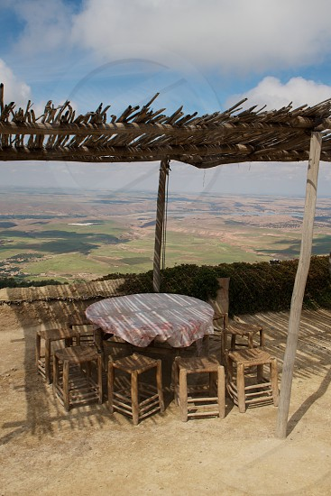 View from an Atlas Mountains home - Morocco photo