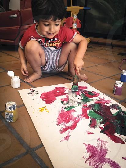 el niño pintor /  the child painter photo