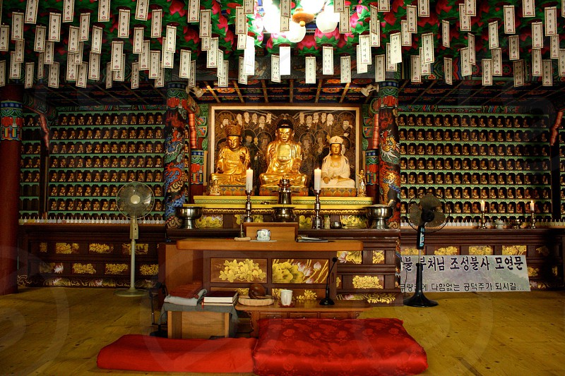 Buddhist temple South Korea photo