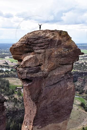 Rock climber bend Oregon smithrock adventure adventurous extreme photo