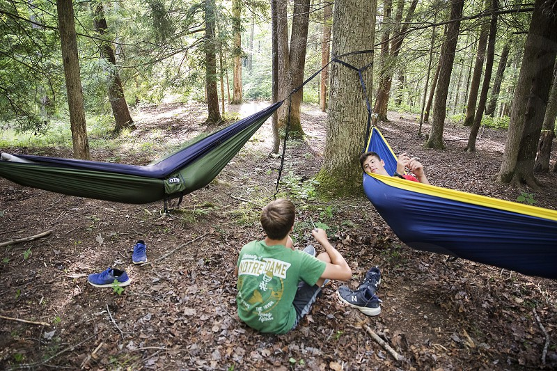 Camping with friends in the George Washington and Jefferson National Forest near Damascus Virginia photo