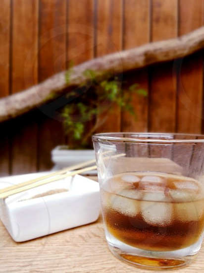 whisky with ice photo