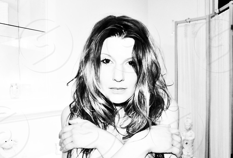 beauty beautiful female self portrait truth black & white photo