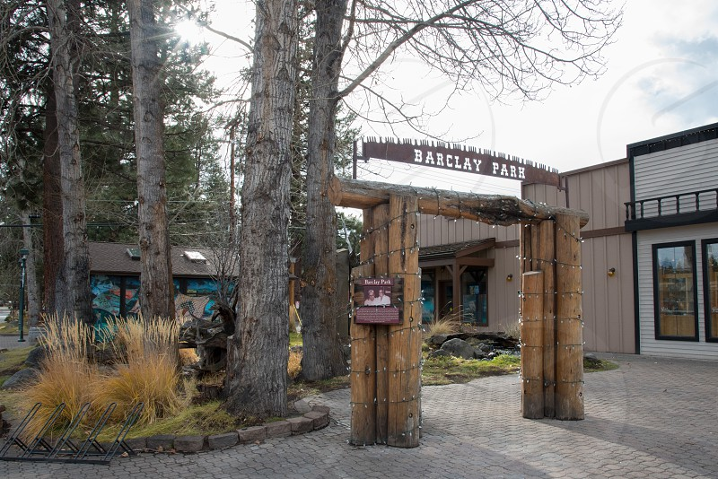 Barclay Park along main street in Sisters OR. photo