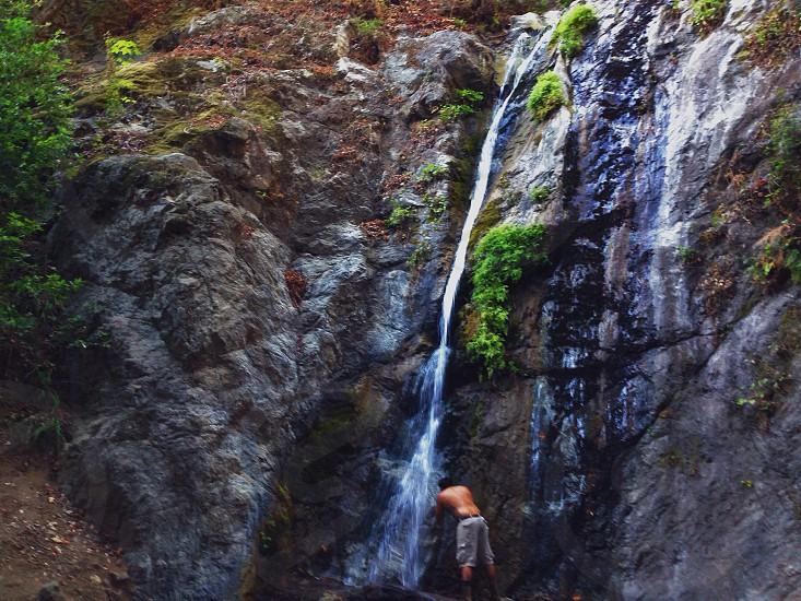 Big Sur waterfall  photo