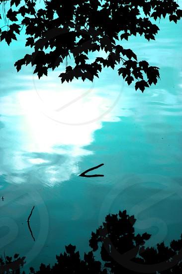 Teal lake photo