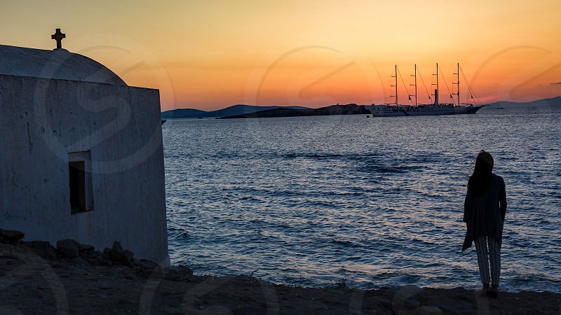 Sunset in Mykonos photo