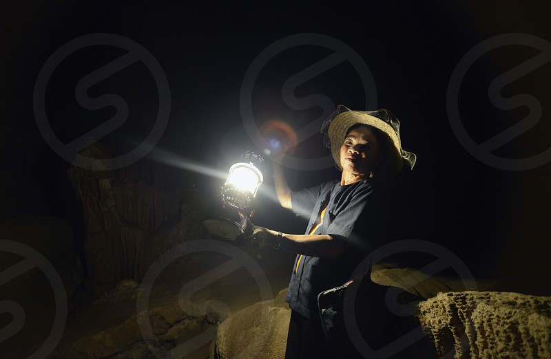 Die Hoehle Cave Pangmapha in der Bergregion von Soppong im norden von Thailand in Suedostasien. photo