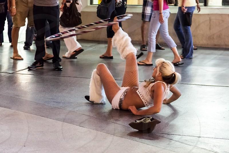 Street performer Las Vegas photo