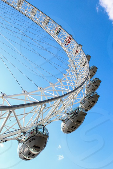 Europe London London Eye Clear blue sky photo