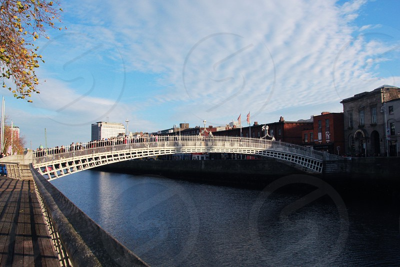 Dublin Ireland Ha'penny bridge photo