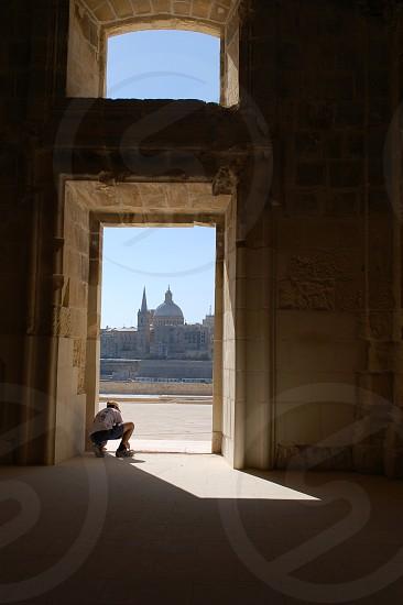 workman in church Malta  photo