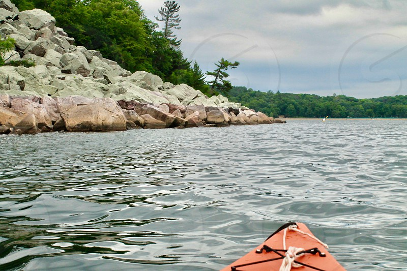 kayaking on a lake in Canada photo