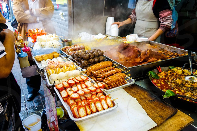 Food vendor on the street in Hong Kong. photo