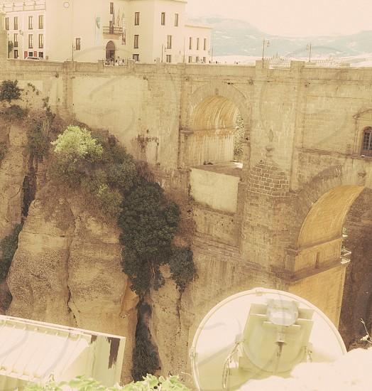 tilting bridge Andalusia mountains mountain town Ronda Malaga Province Spain photo