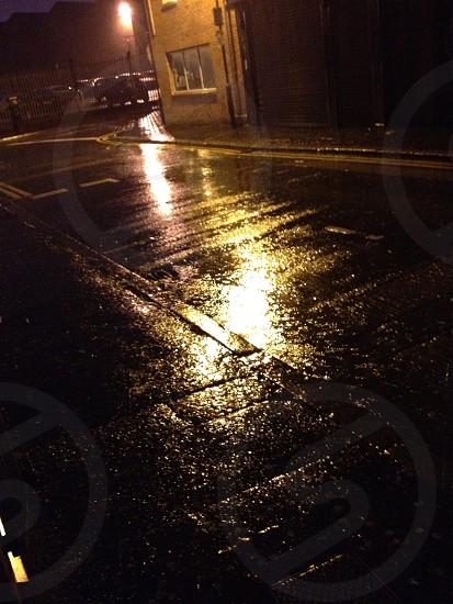 Wet city nights  photo
