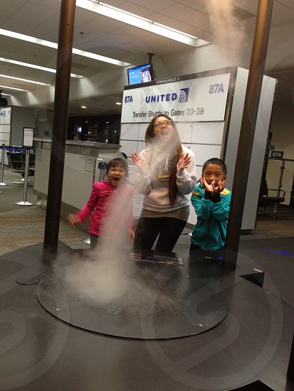 SFO international terminal mist tornado photo