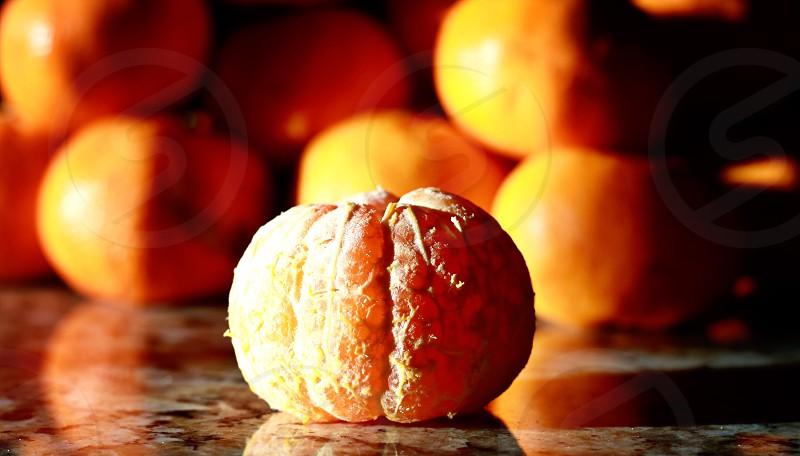 Orange fruit texture light  photo