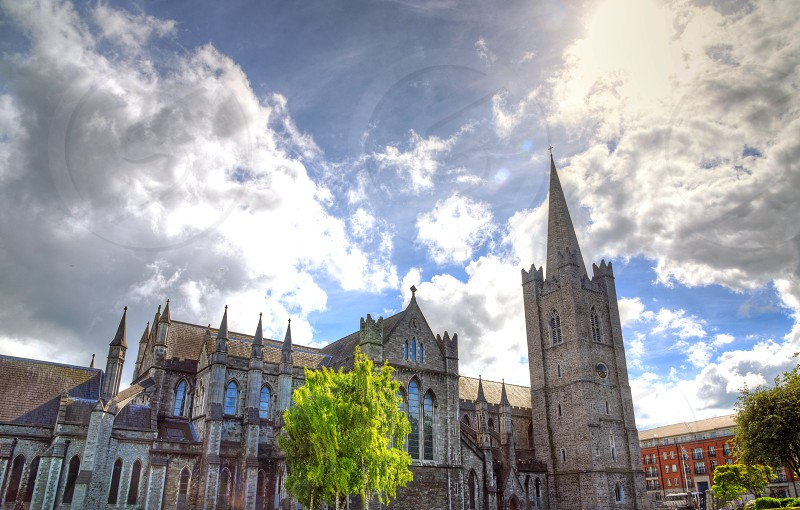 St. Patrick's Cathedral located in Dublin Ireland. photo