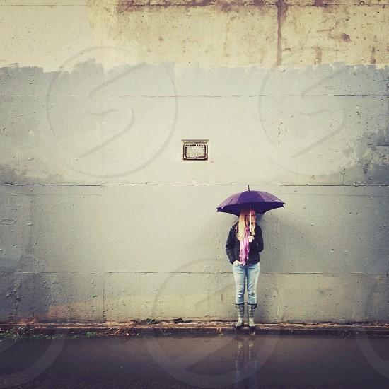 purple umbrella  photo